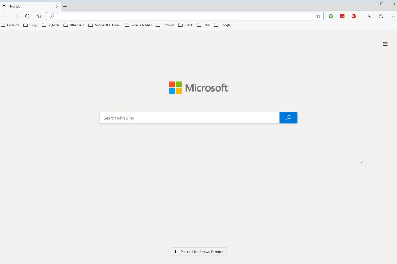 Nya Microsoft Edge