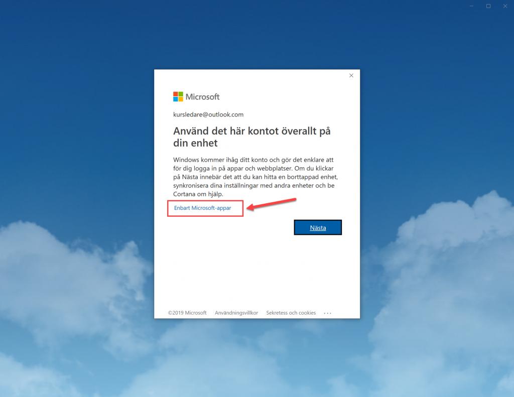 Enbart Microsoft-appar