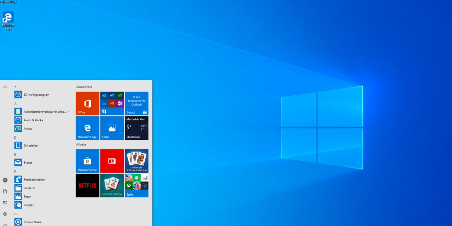 Windows 10 Ljust Tema