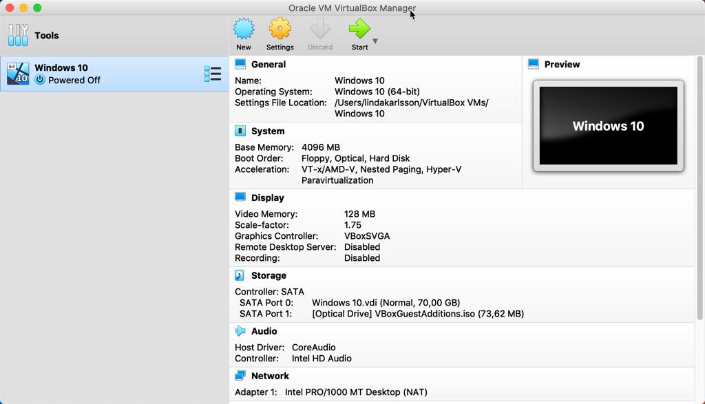 Virtualbox på en Mac