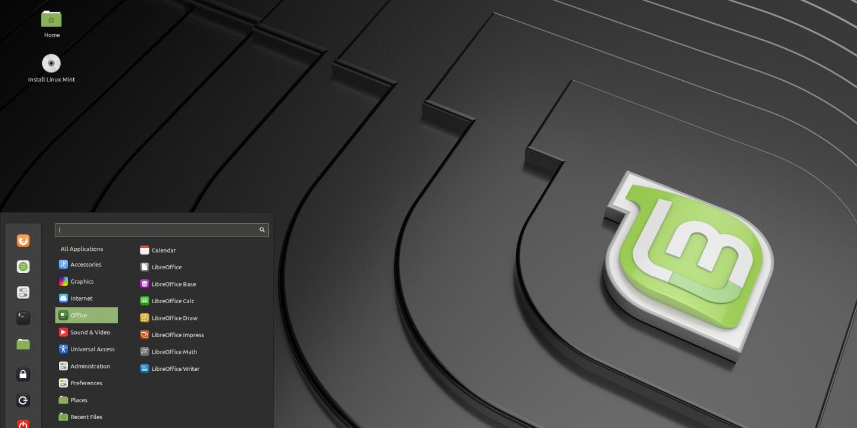 Skärmbild på Linux Mint Cinnamon