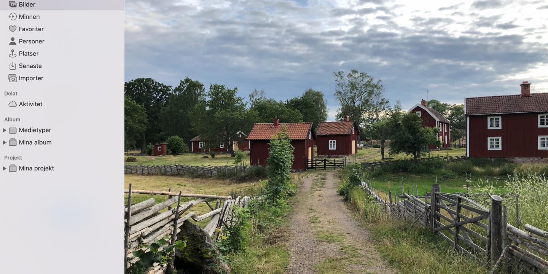 Stensjöby i appen Bilder
