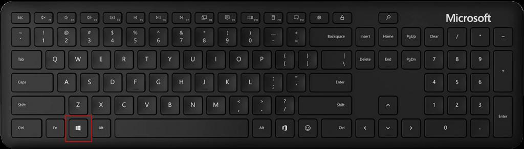 Bild på tangentbord från Microsofts hemsida.