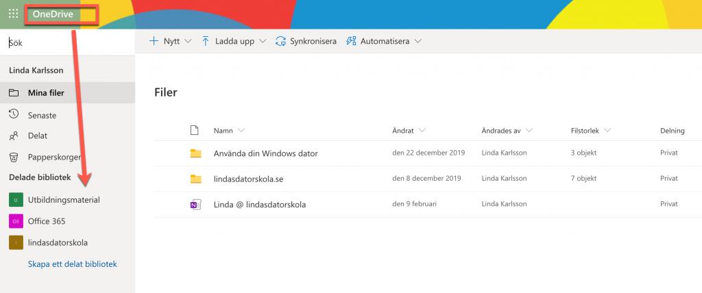 Sharepoint i OneDrive