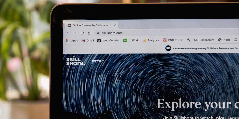 Datorskärm med webbläsare.