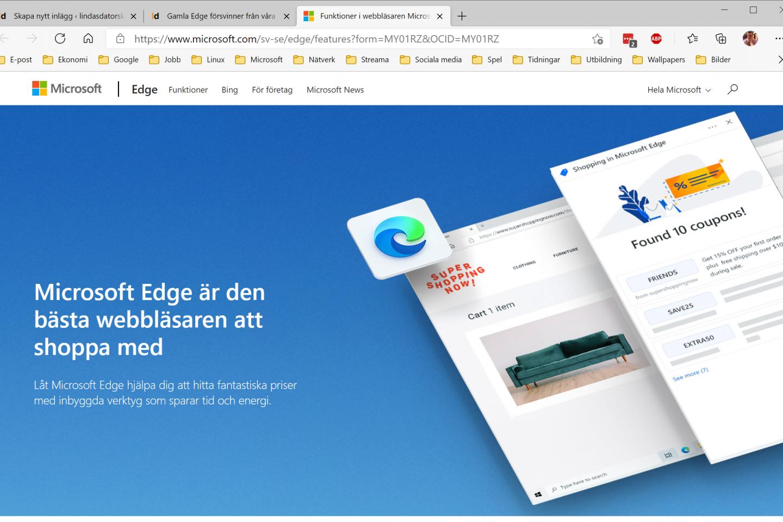 Edge Chromium Webbläsare