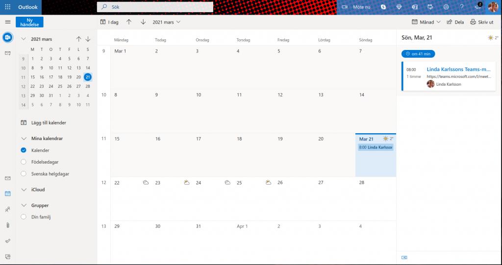 Mötet bokat i din kalender